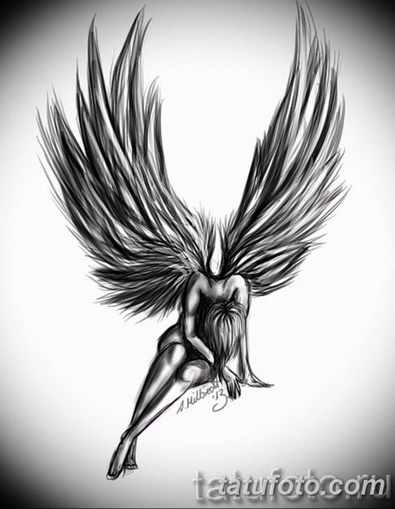 черный тату эскиз для девушки 08.03.2019 №058 - tattoo sketches - tatufoto.com