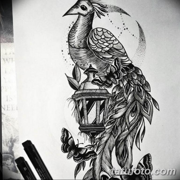 черный тату эскиз для девушки 08.03.2019 №068 - tattoo sketches - tatufoto.com