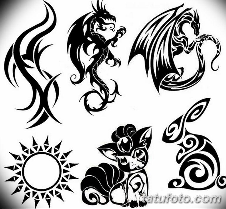 черный тату эскиз для девушки 08.03.2019 №074 - tattoo sketches - tatufoto.com