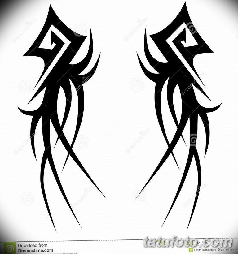 черный тату эскиз для девушки 08.03.2019 №082 - tattoo sketches - tatufoto.com