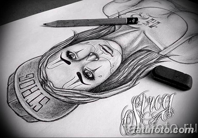 чикано тату эскизы девушки 08.03.2019 №004 - tattoo sketches - tatufoto.com