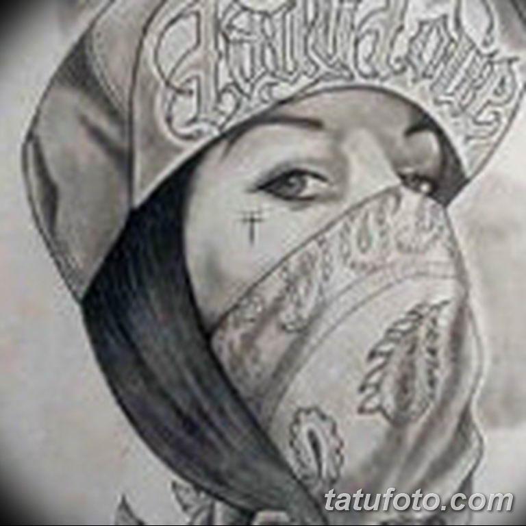 чикано тату эскизы девушки 08.03.2019 №024 - tattoo sketches - tatufoto.com