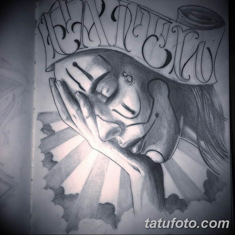 чикано тату эскизы девушки 08.03.2019 №026 - tattoo sketches - tatufoto.com