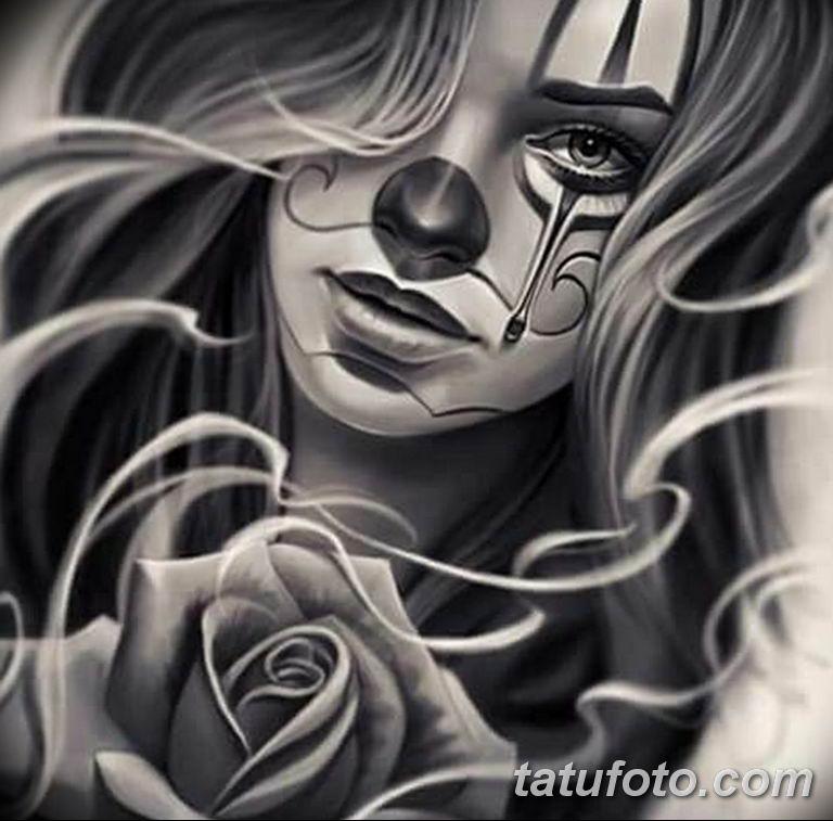 чикано тату эскизы девушки 08.03.2019 №029 - tattoo sketches - tatufoto.com