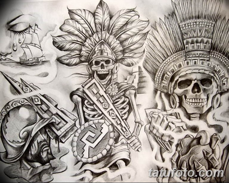 чикано тату эскизы девушки 08.03.2019 №059 - tattoo sketches - tatufoto.com