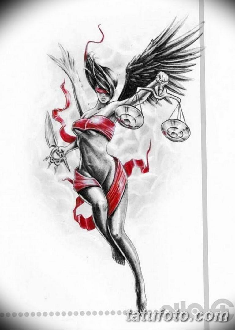 эскизы тату девушек ангелов 08.03.2019 №023 - tattoo sketches - tatufoto.com