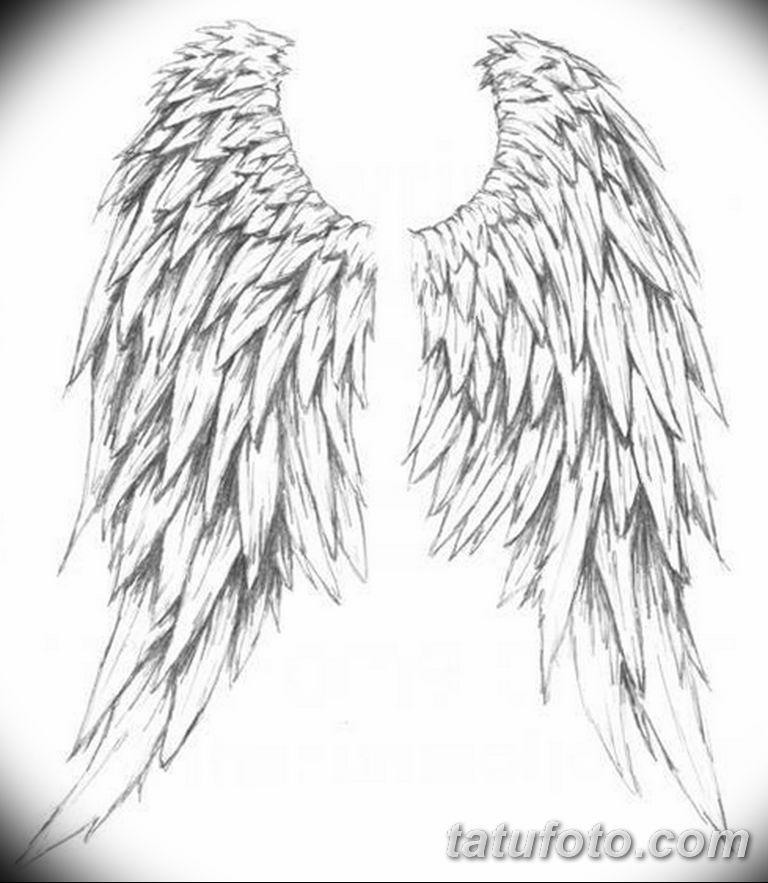 эскизы тату девушек крылья 08.03.2019 №004 - tattoo sketches - tatufoto.com