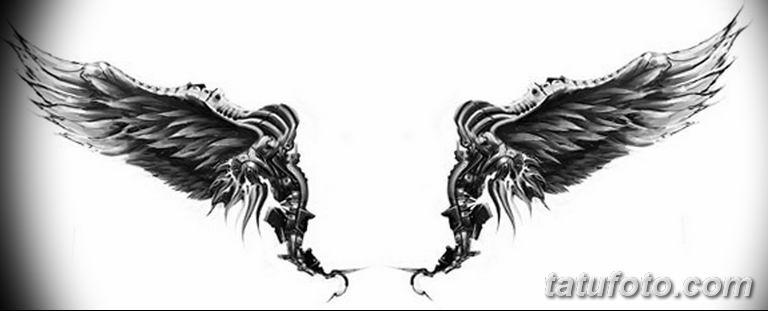 эскизы тату девушек крылья 08.03.2019 №008 - tattoo sketches - tatufoto.com
