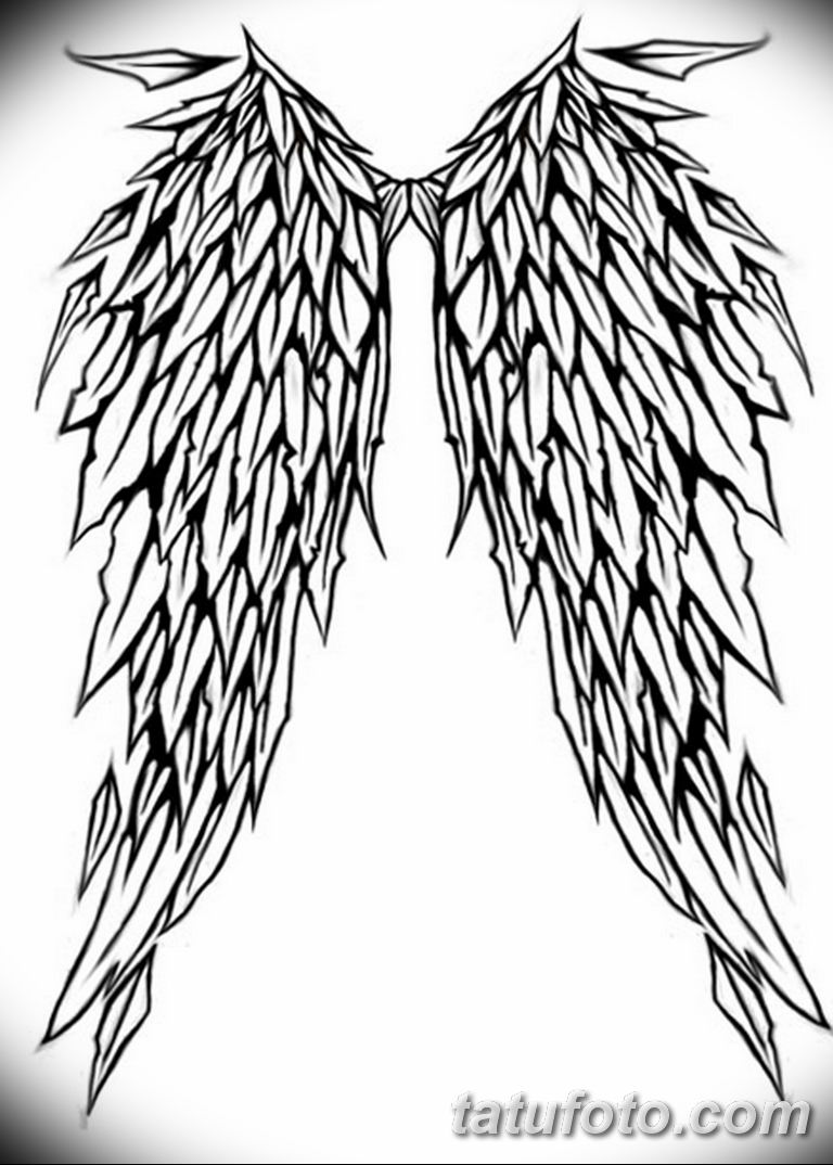 эскизы тату девушек крылья 08.03.2019 №012 - tattoo sketches - tatufoto.com