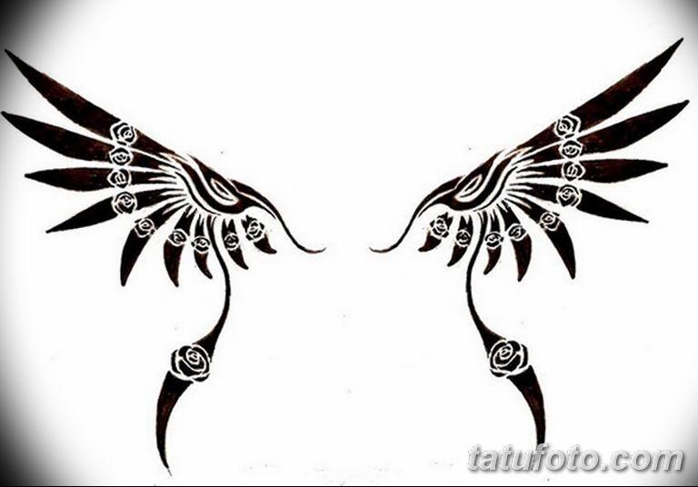 эскизы тату девушек крылья 08.03.2019 №015 - tattoo sketches - tatufoto.com