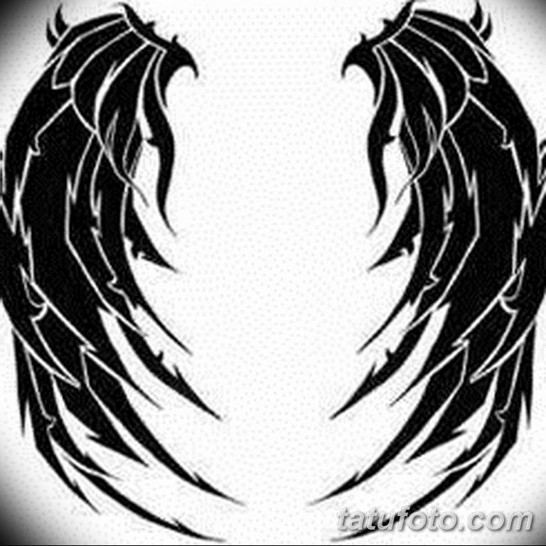 эскизы тату девушек крылья 08.03.2019 №016 - tattoo sketches - tatufoto.com