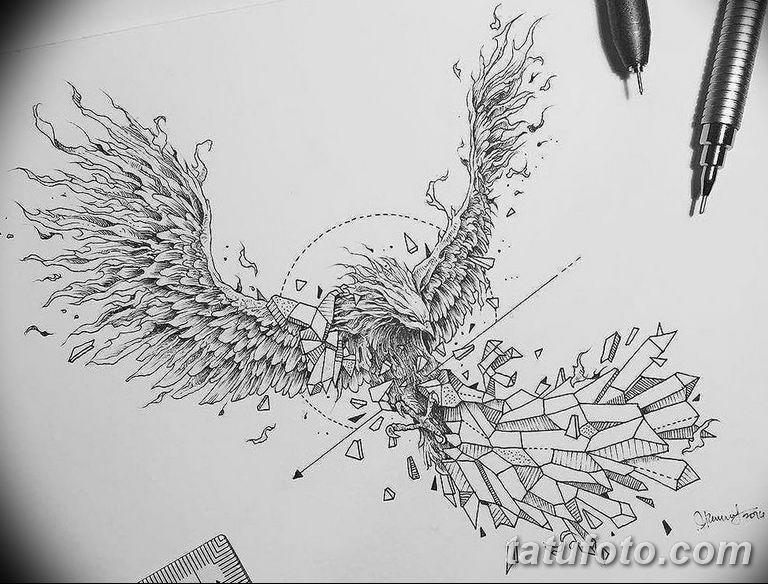 эскизы тату для девушек геометрия 08.03.2019 №008 - tattoo sketches - tatufoto.com