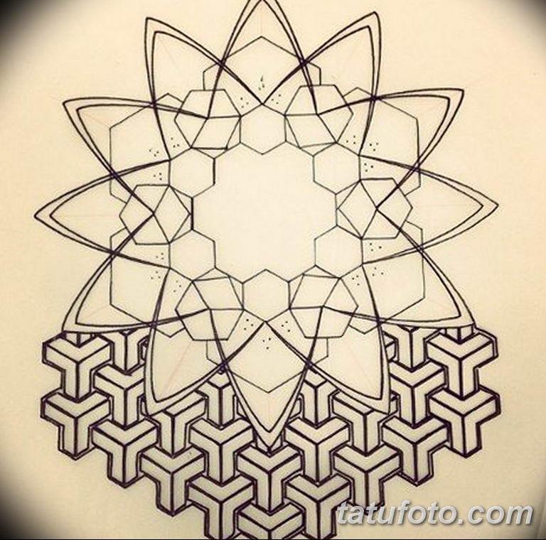 эскизы тату для девушек геометрия 08.03.2019 №017 - tattoo sketches - tatufoto.com