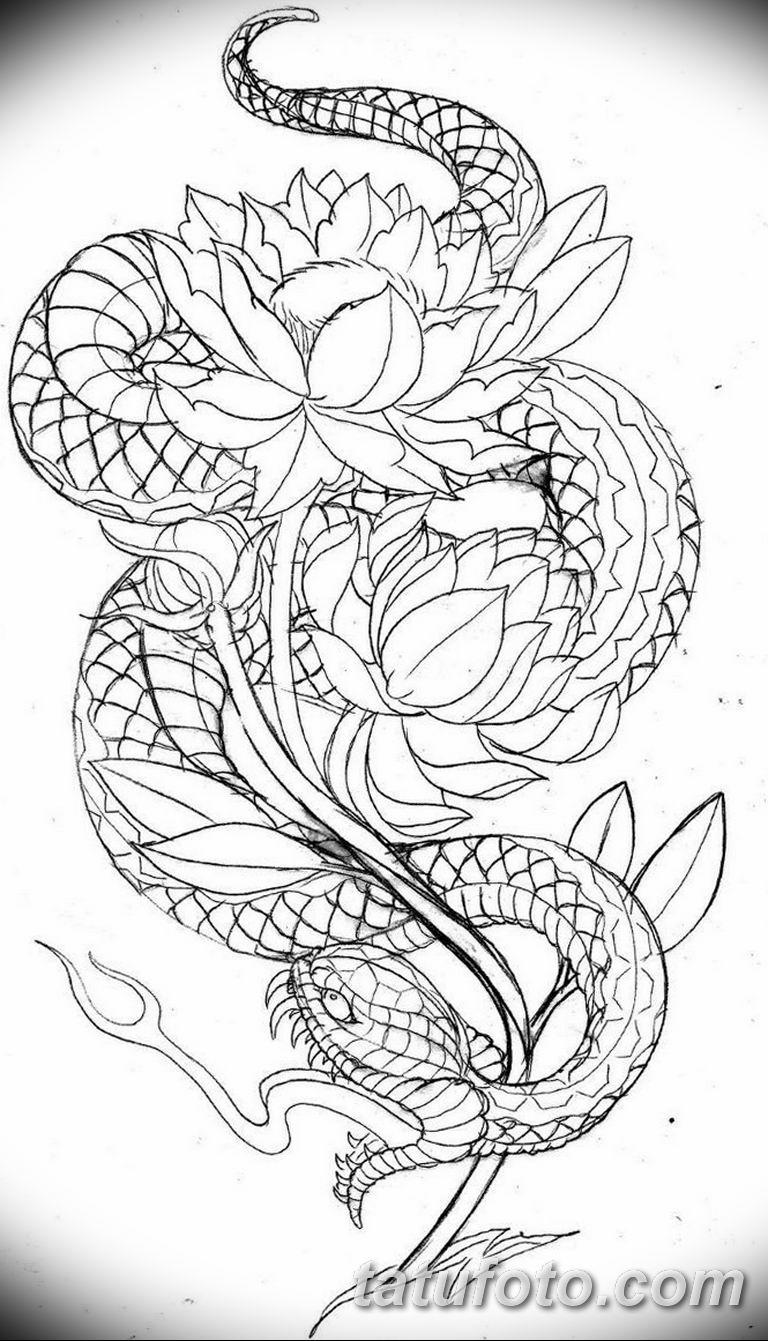 эскизы тату змей для девушек 08.03.2019 №008 - tattoo sketches - tatufoto.com