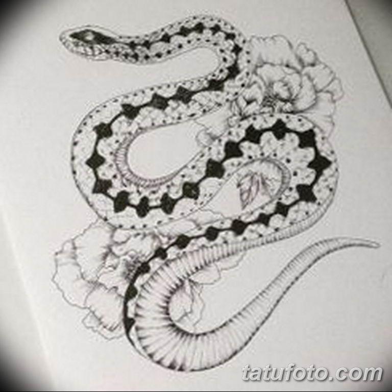 эскизы тату змей для девушек 08.03.2019 №016 - tattoo sketches - tatufoto.com