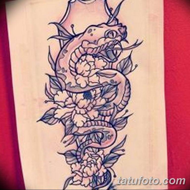 эскизы тату змей для девушек 08.03.2019 №018 - tattoo sketches - tatufoto.com