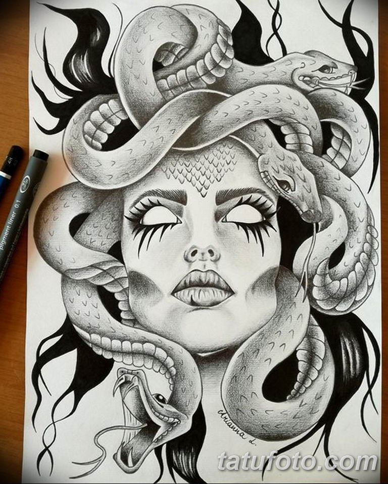 эскизы тату змей для девушек 08.03.2019 №020 - tattoo sketches - tatufoto.com