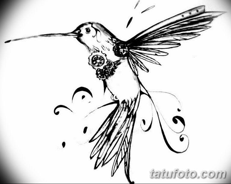 эскизы тату колибри для девушек 08.03.2019 №006 - tattoo sketches - tatufoto.com