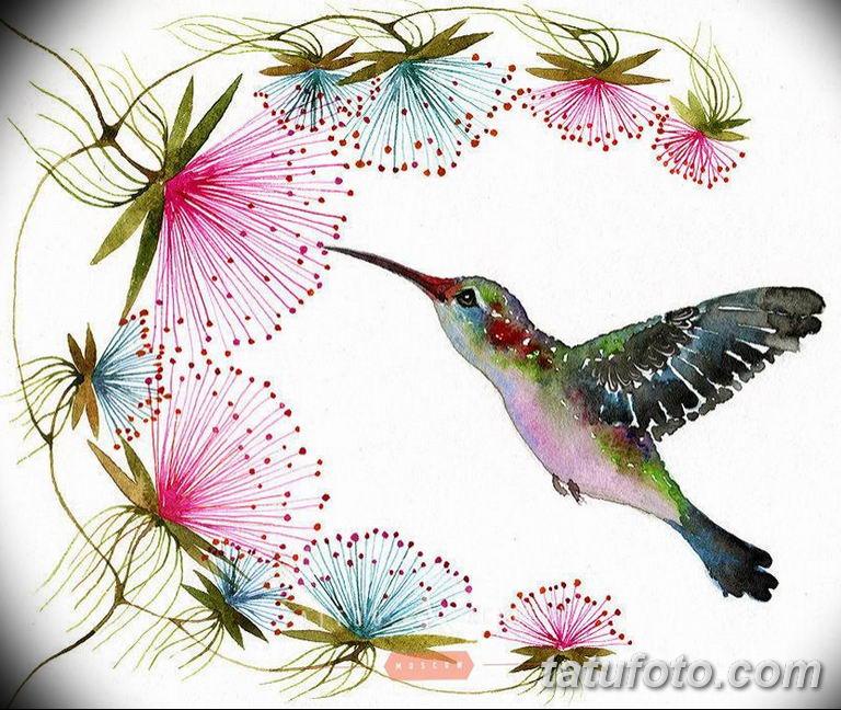эскизы тату колибри для девушек 08.03.2019 №011 - tattoo sketches - tatufoto.com