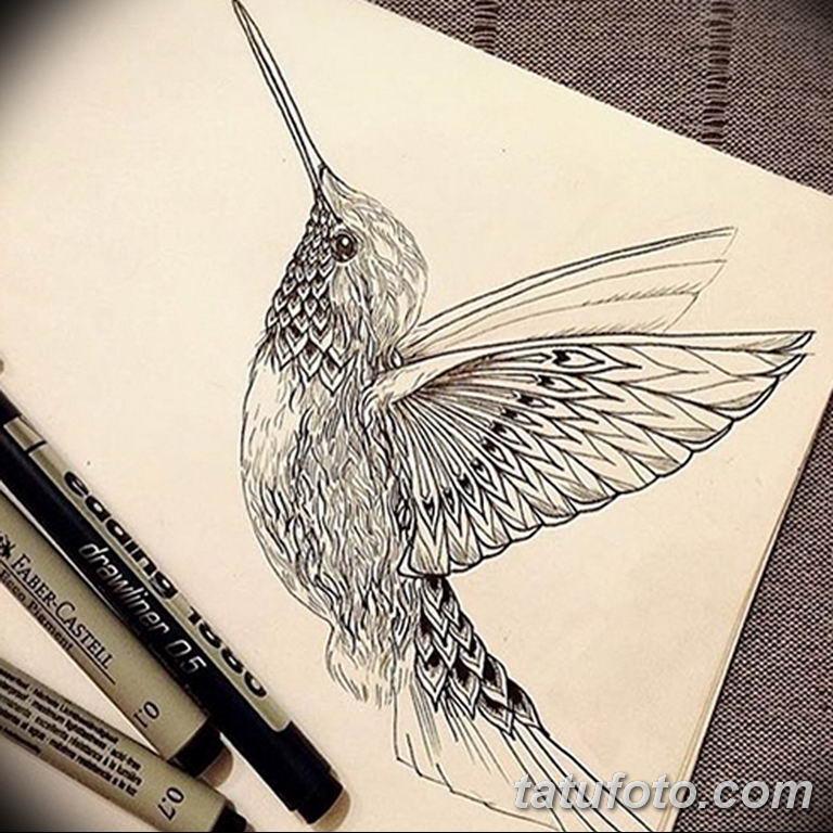 эскизы тату колибри для девушек 08.03.2019 №018 - tattoo sketches - tatufoto.com