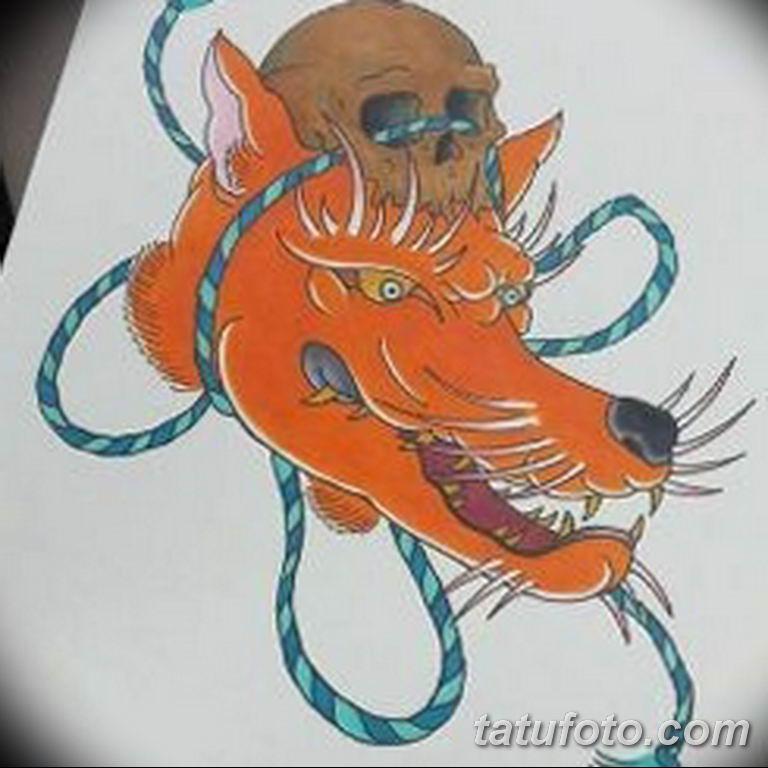 эскизы тату лисы для девушек 08.03.2019 №023 - tattoo sketches - tatufoto.com