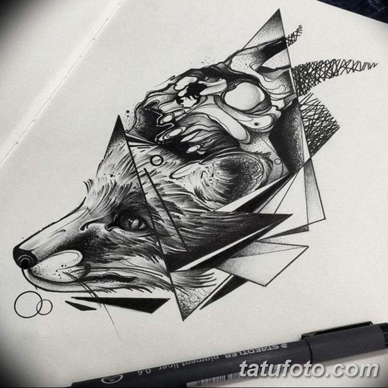 эскизы тату лисы для девушек 08.03.2019 №034 - tattoo sketches - tatufoto.com