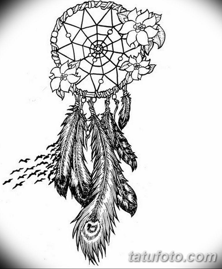 эскизы тату ловец снов для девушек 08.03.2019 №007 - tattoo sketches - tatufoto.com