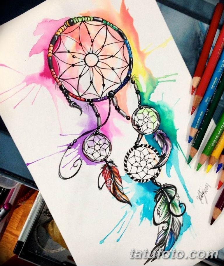 эскизы тату ловец снов для девушек 08.03.2019 №018 - tattoo sketches - tatufoto.com