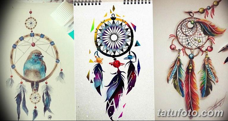 эскизы тату ловец снов для девушек 08.03.2019 №032 - tattoo sketches - tatufoto.com