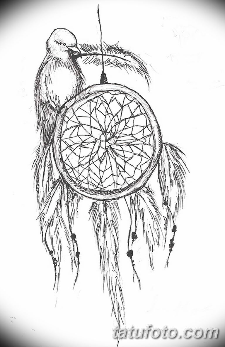 эскизы тату ловец снов для девушек 08.03.2019 №037 - tattoo sketches - tatufoto.com