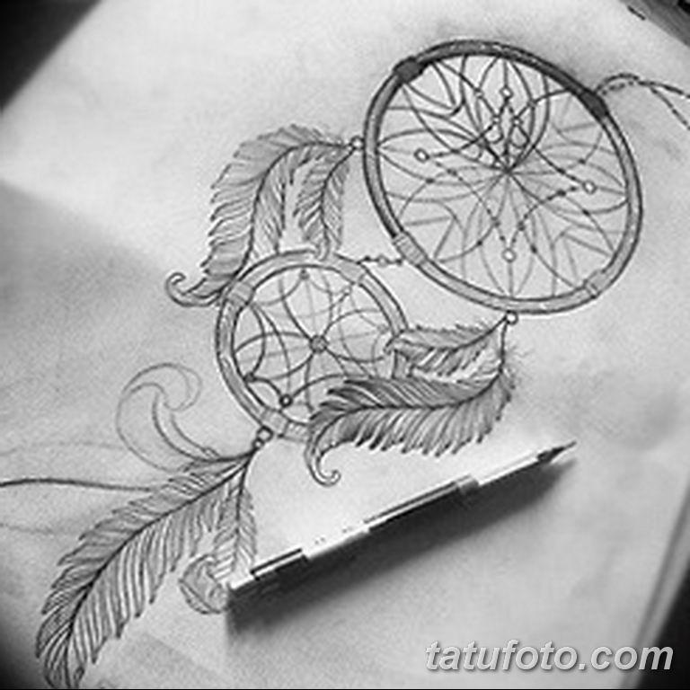 эскизы тату ловец снов для девушек 08.03.2019 №039 - tattoo sketches - tatufoto.com