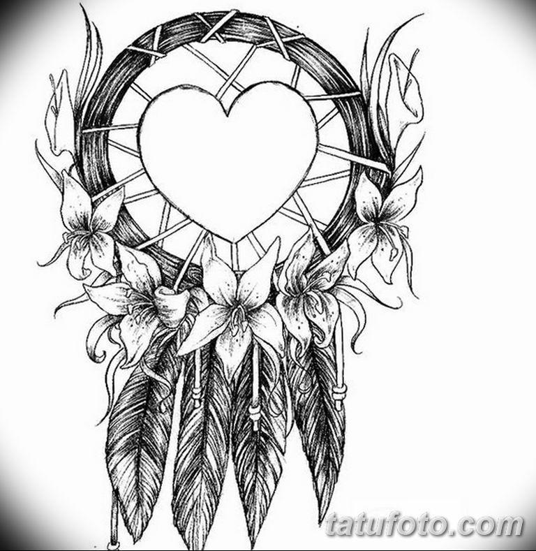 эскизы тату ловец снов для девушек 08.03.2019 №041 - tattoo sketches - tatufoto.com