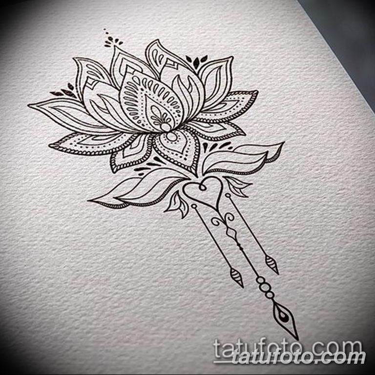 эскизы тату лотоса для девушек 08.03.2019 №004 - tattoo sketches - tatufoto.com