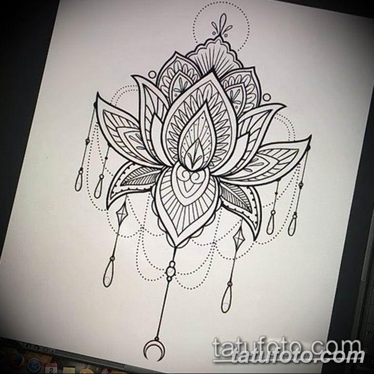 эскизы тату лотоса для девушек 08.03.2019 №006 - tattoo sketches - tatufoto.com