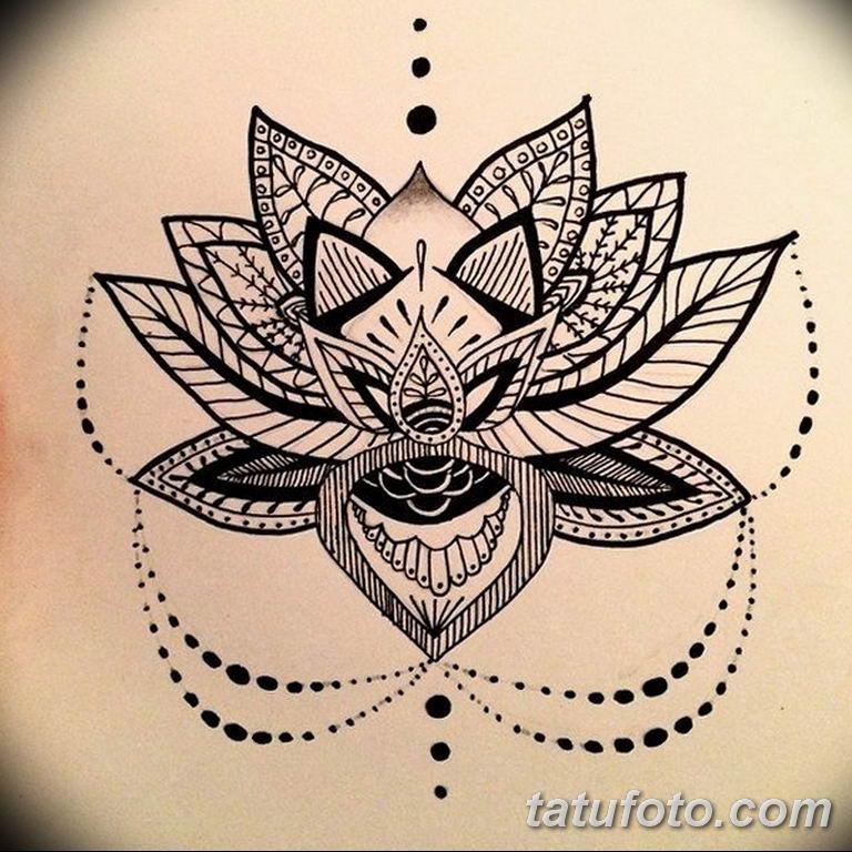 эскизы тату лотоса для девушек 08.03.2019 №018 - tattoo sketches - tatufoto.com