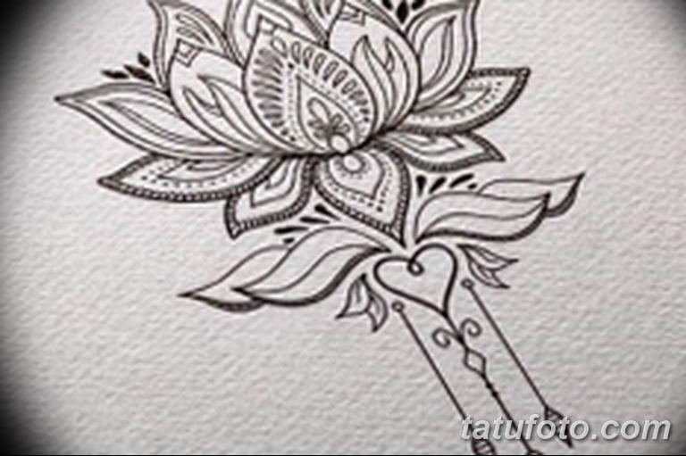 эскизы тату лотоса для девушек 08.03.2019 №023 - tattoo sketches - tatufoto.com