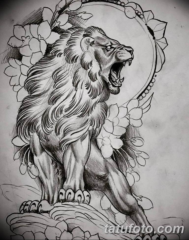 эскизы тату львов для девушек 08.03.2019 №003 - tattoo sketches - tatufoto.com
