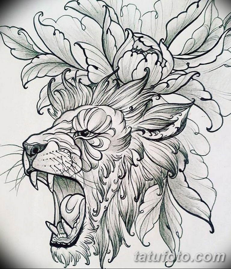 эскизы тату львов для девушек 08.03.2019 №017 - tattoo sketches - tatufoto.com