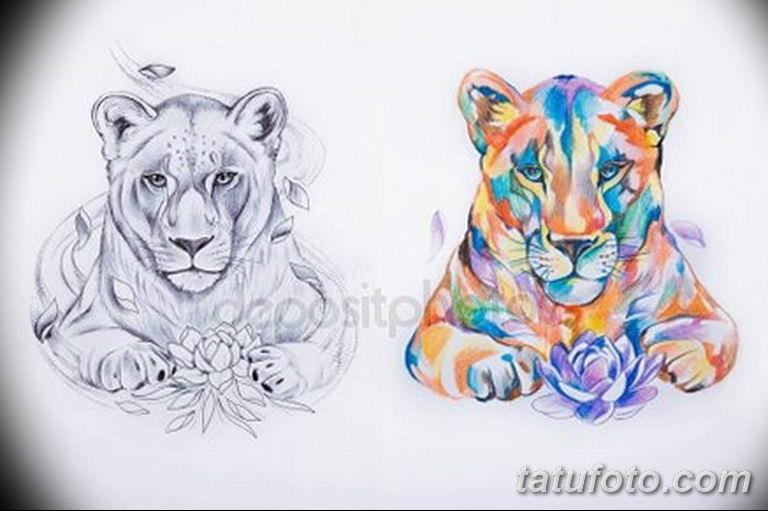 эскизы тату львов для девушек 08.03.2019 №022 - tattoo sketches - tatufoto.com
