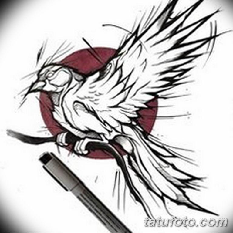 эскизы тату птиц для девушек 08.03.2019 №006 - tattoo sketches - tatufoto.com