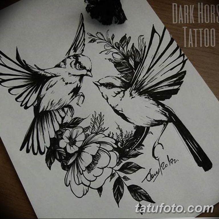 эскизы тату птиц для девушек 08.03.2019 №010 - tattoo sketches - tatufoto.com