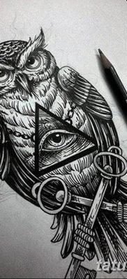 эскизы тату сова мужские 09.03.2019 №006 – tattoo sketches – tatufoto.com