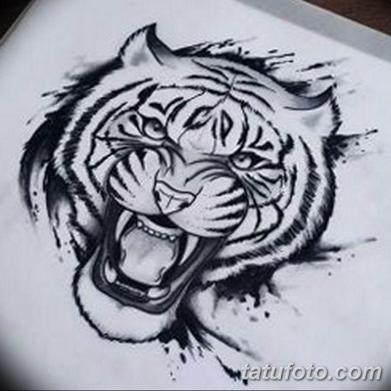 эскизы тату тигр для девушки 08.03.2019 №001 - tattoo sketches - tatufoto.com