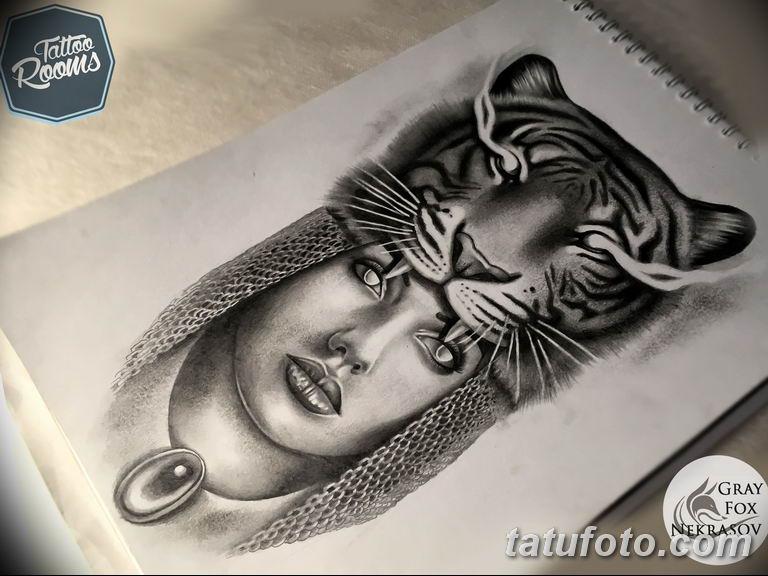 эскизы тату тигр для девушки 08.03.2019 №023 - tattoo sketches - tatufoto.com