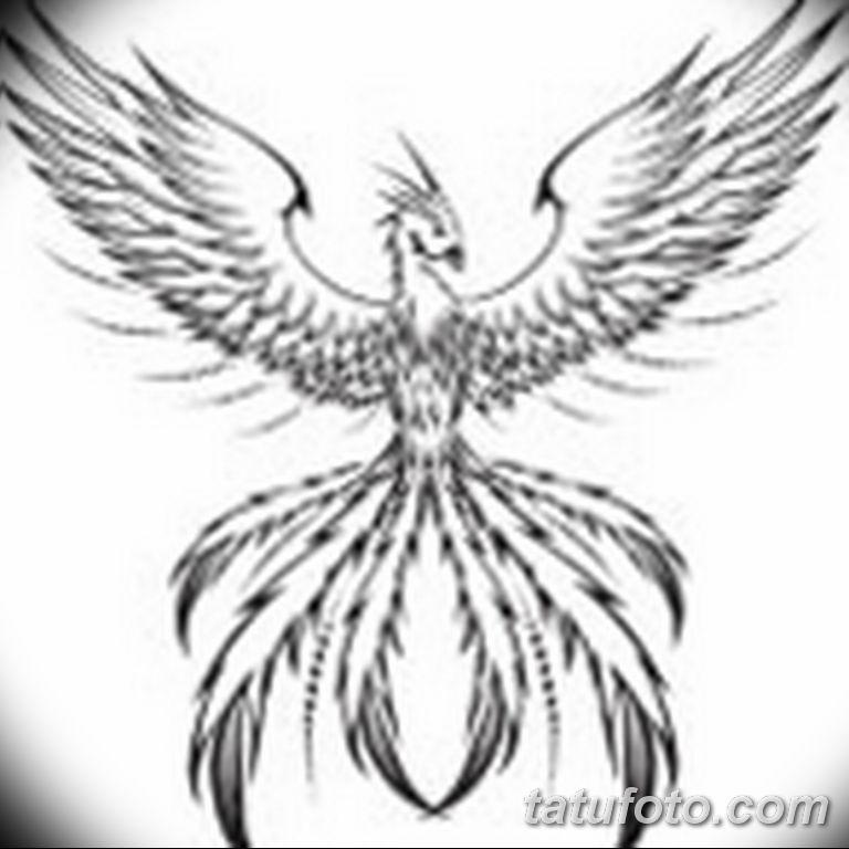 эскизы тату феникса для девушек 08.03.2019 №004 - tattoo sketches - tatufoto.com