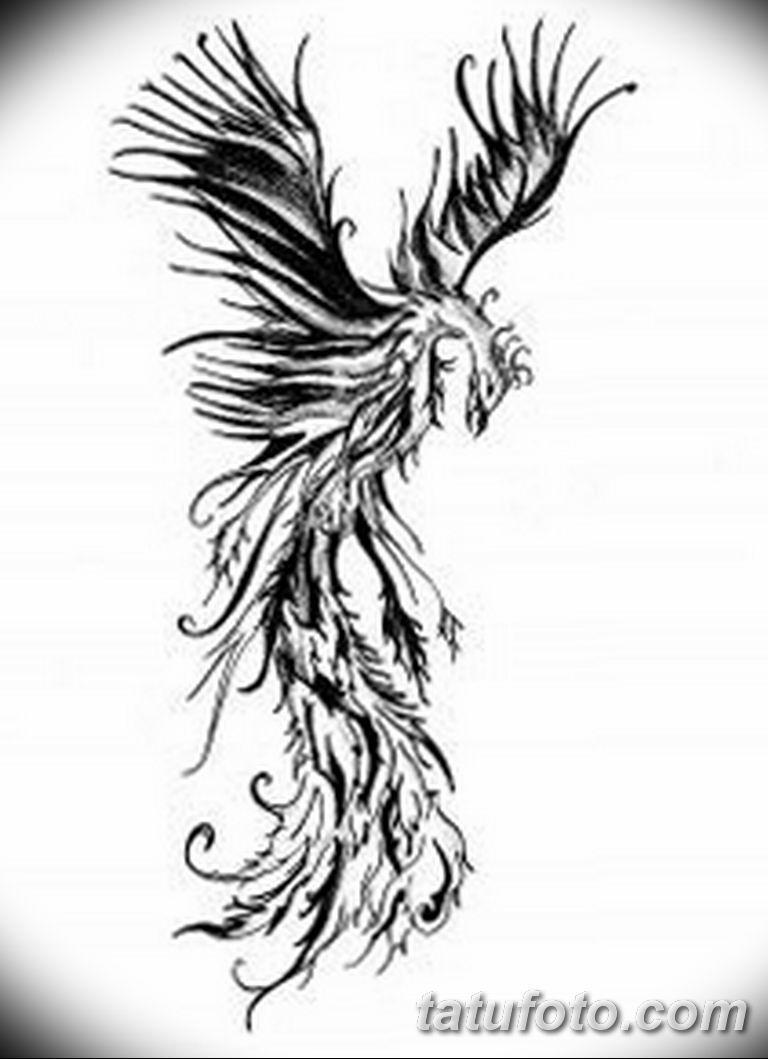 эскизы тату феникса для девушек 08.03.2019 №008 - tattoo sketches - tatufoto.com