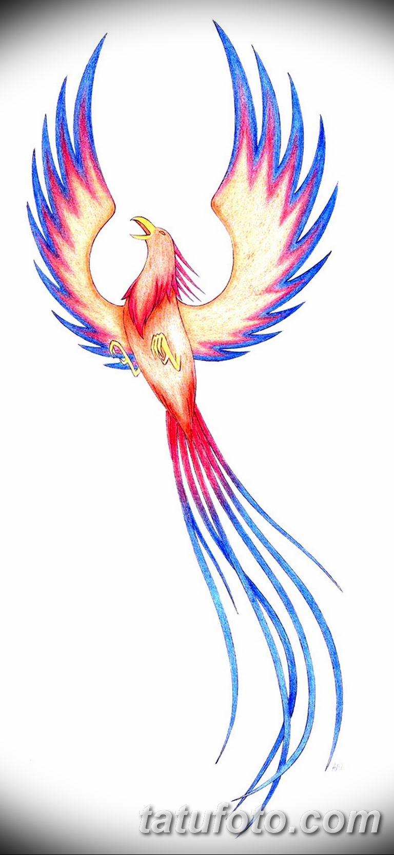 эскизы тату феникса для девушек 08.03.2019 №011 - tattoo sketches - tatufoto.com