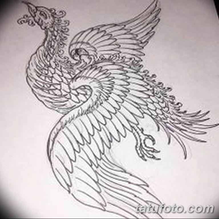 эскизы тату феникса для девушек 08.03.2019 №013 - tattoo sketches - tatufoto.com