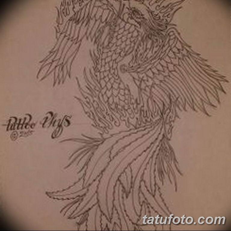 эскизы тату феникса для девушек 08.03.2019 №022 - tattoo sketches - tatufoto.com