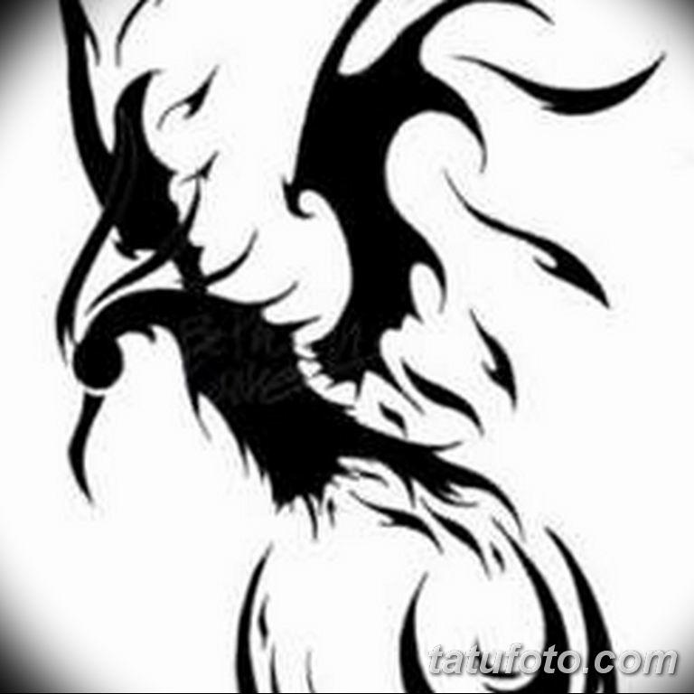 эскизы тату феникса для девушек 08.03.2019 №023 - tattoo sketches - tatufoto.com